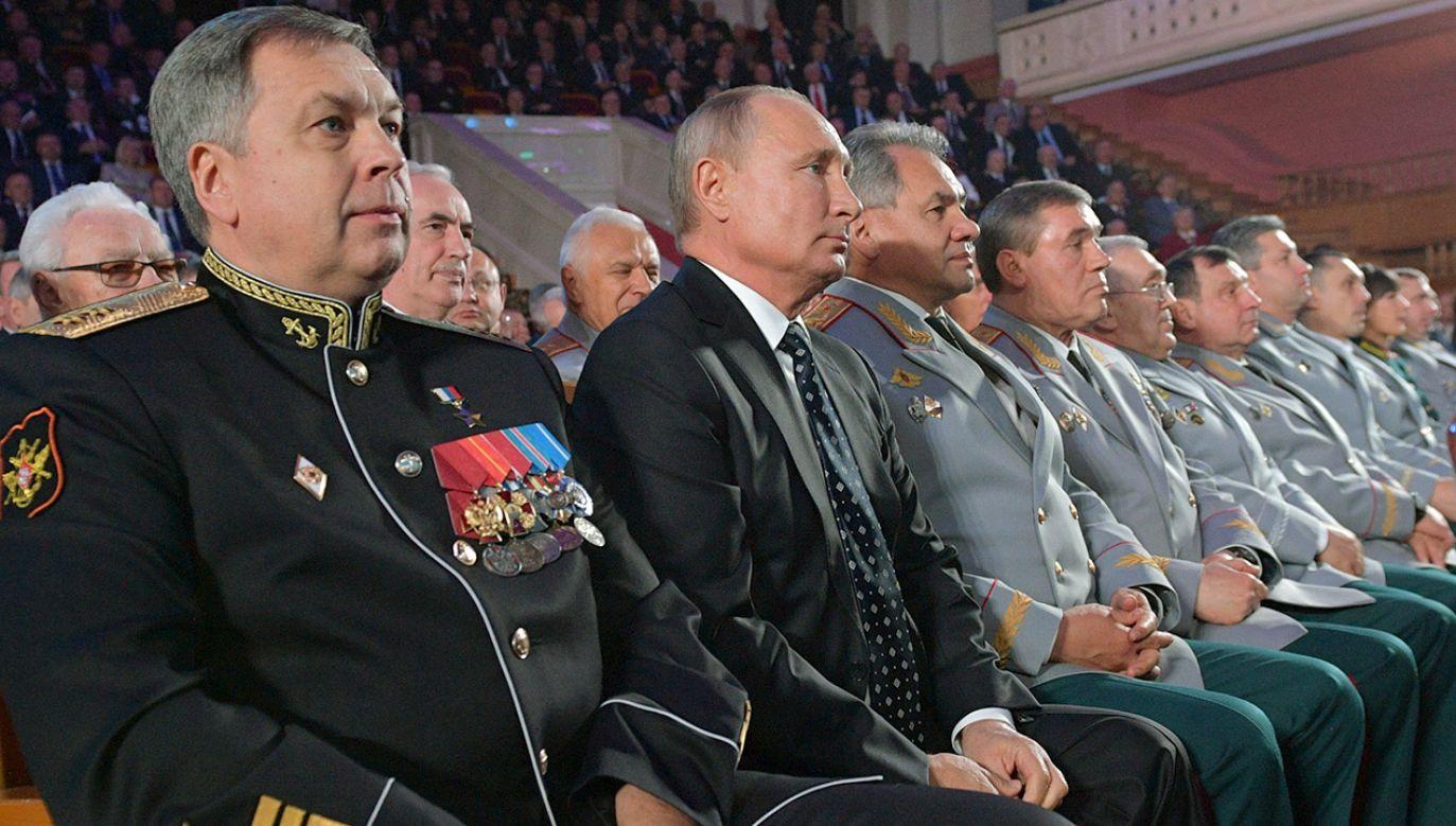 Uroczystości z okazji 100.lecia GRU w listopadzie 2018r. (fot. Sputnik/Alexei Druzhinin/Kremlin via REUTERS)