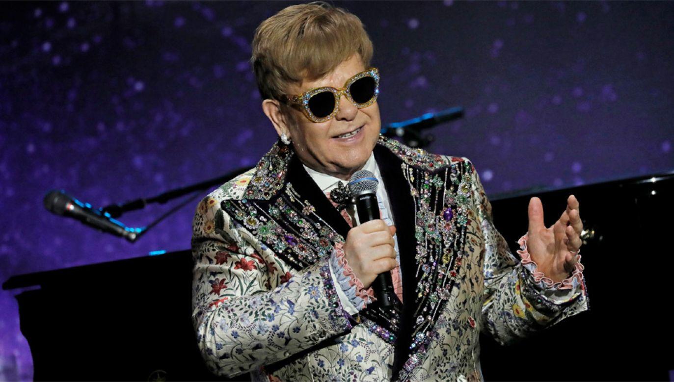 71-letni Elton John chce się poświęcić rodzinie (fot. EPA/PETER FOLEY)