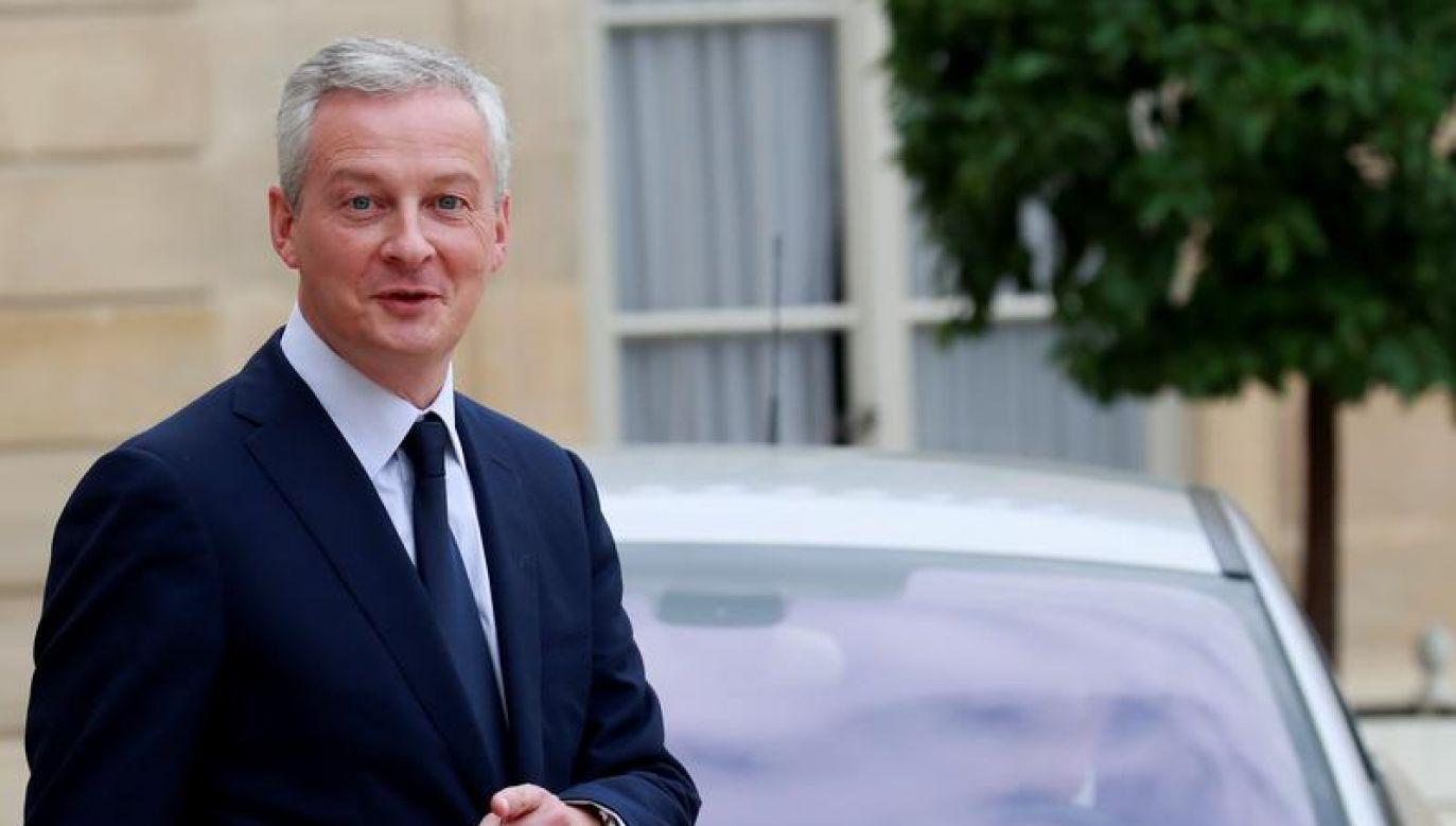 Le Maire zapewnił, że jego nieobecność w Rijadzie nie wpłynie na stan stosunków francusko-saudyjskich (fot. REUTERS/Gonzalo Fuentes)
