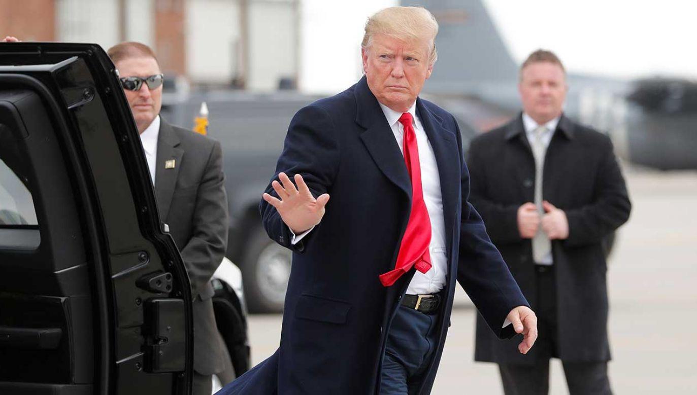 Prezydent Trump miałby przyjechać na obchody wybuchu II wojny światowej (fot. REUTERS/Carlos Barria)