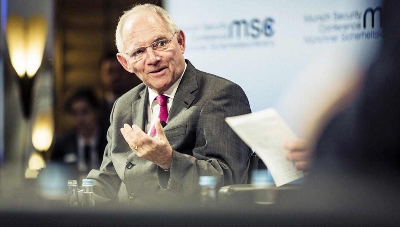 Przewodniczący Bundestagu Wolfgang Schauble nie jest zwolennikiem Nord Stream 2 (fot. Wiki/Kuhlmann /MSC)