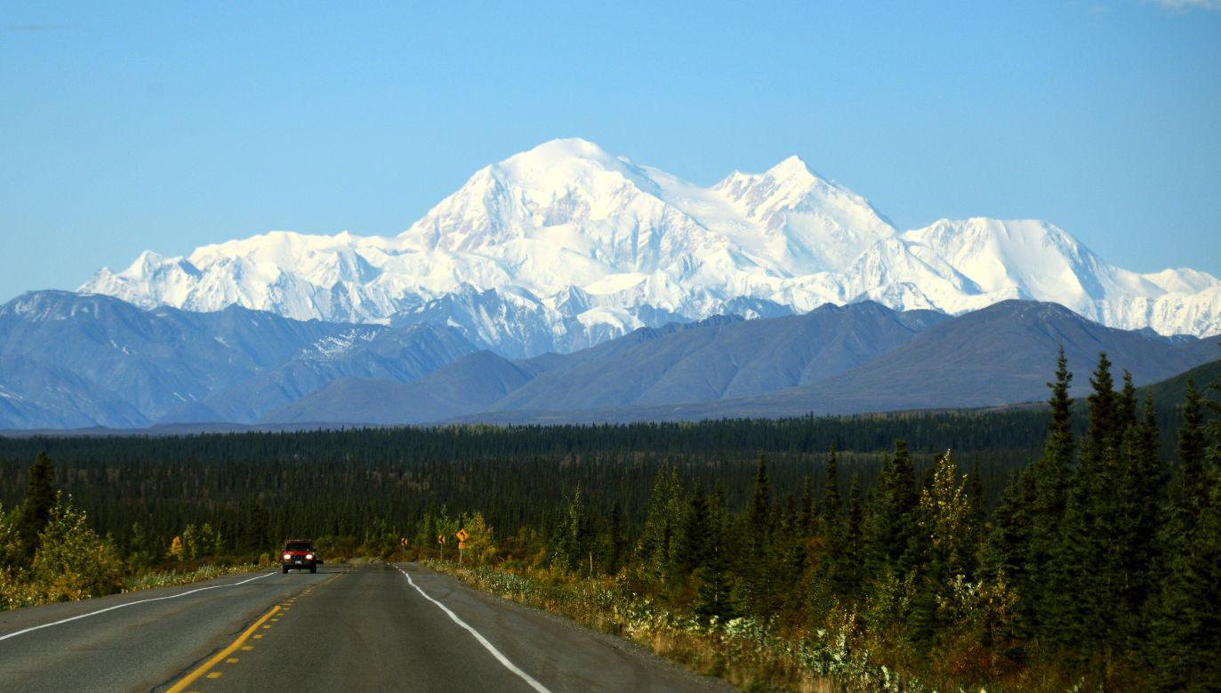 View towards the Denali National Park area in Alaska, where the plane carrying Polish passengers crashed on August 4. Photo: Lance King/Getty Images