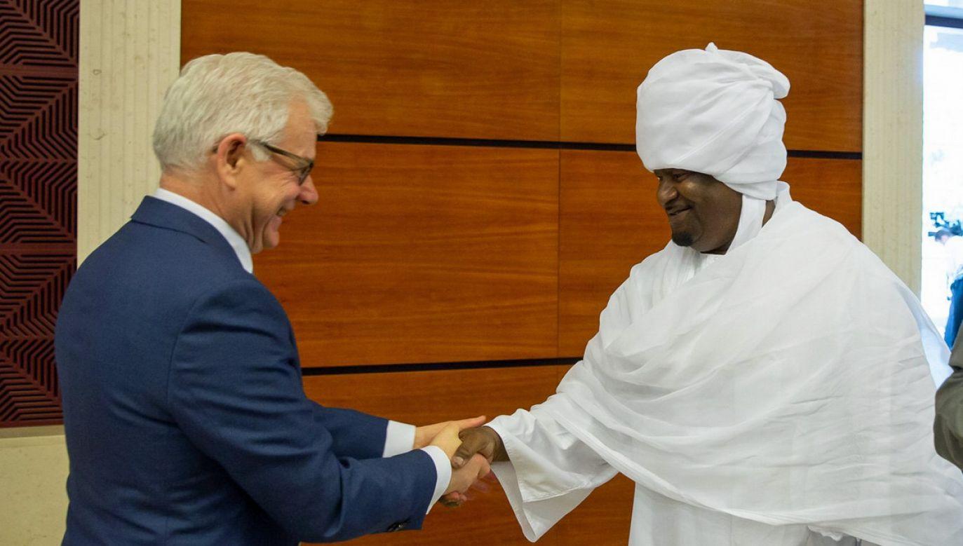 Szef MSZ spotkał się między innymi z premierem i z ministrem spraw zagranicznych Sudanu (fot. Gabriel Piętka/MSZ)
