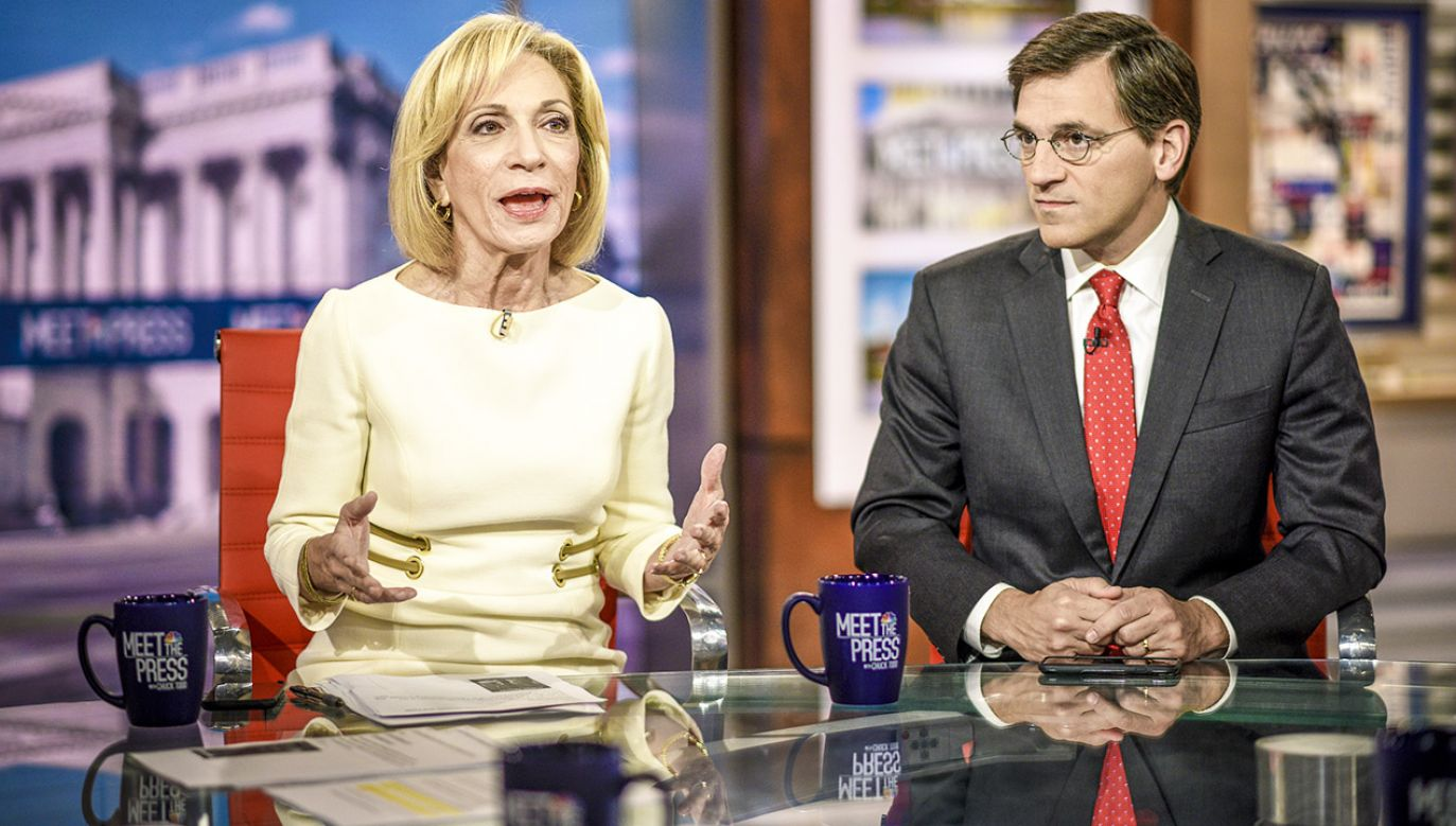 Andrea Mitchell i Peter Baker (fot. William B. Plowman/NBC/NBC NewsWire via Getty Images)