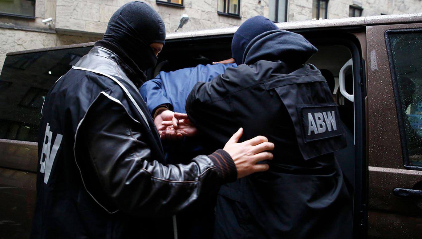Zatrzymań dokonali funkcjonariusze z wrocławskiego wydziału zamiejscowego delegatury ABW w Poznaniu (fot. arch. PAP)