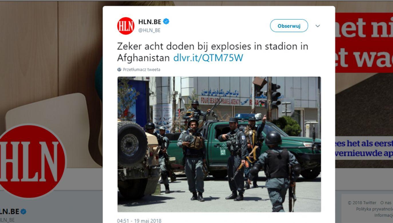 Kolejny zamach w Dżalalabadzie (fot. Twitter/HLN.BE)