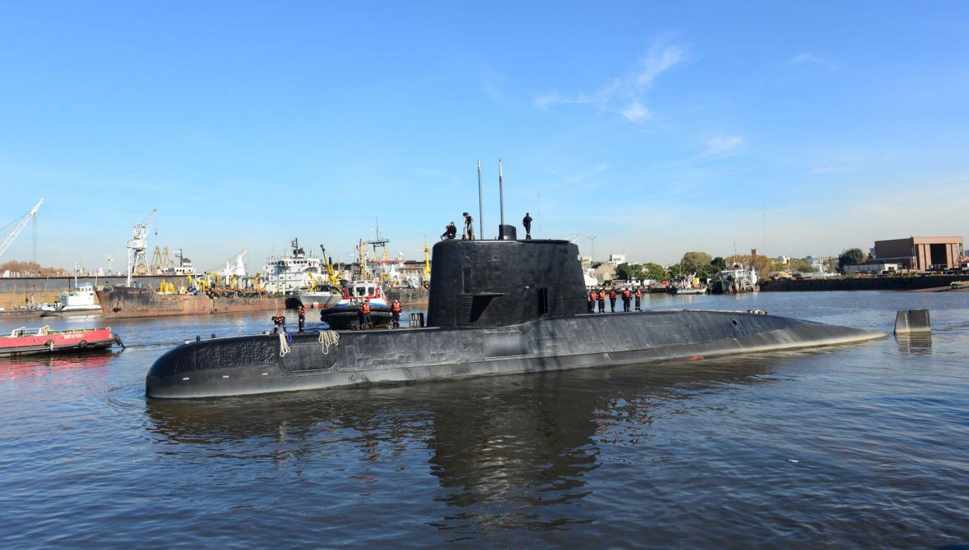 Kontakt z łodzią podwodną stracono w środę na Atlantyku (fot. PAP/EPA/ARGENTINA NAVY HANDOUT)
