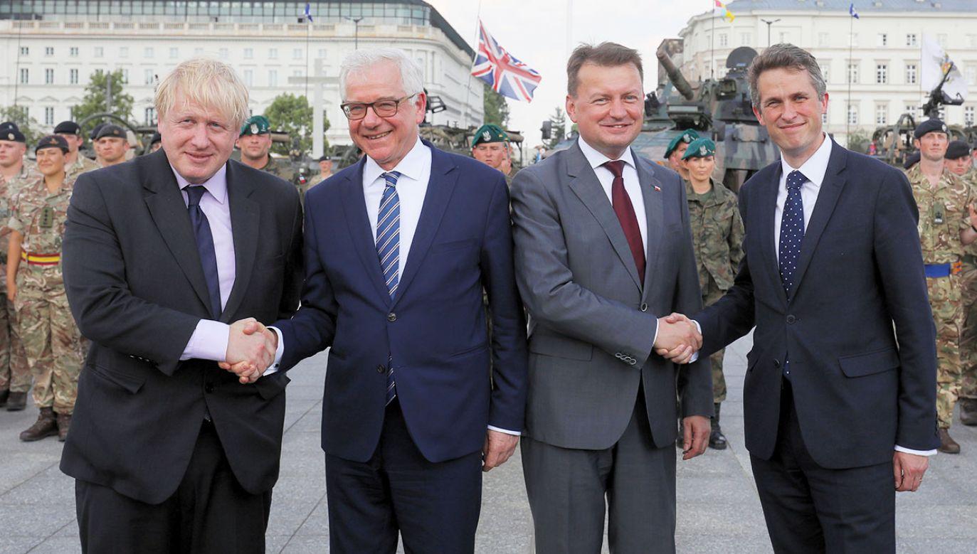 Wspólna konferencja prasowa ministrów obrony i spraw zagranicznych Polski i Wielkiej Brytanii (fot. PAP/Paweł Supernak)