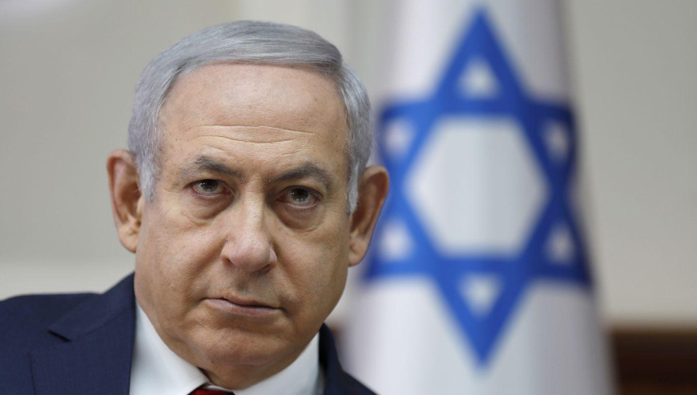Premier Izraela Benjamin Netanyahu (fot. PAP/EPA/ABIR SULTAN / POOL)