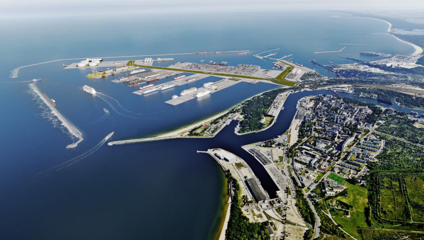Pod koniec maja zaprezentowano koncepcję budowy nowego Portu Centralnego w Gdańsku (fot. tt/@MGMiZS_GOV_PL)