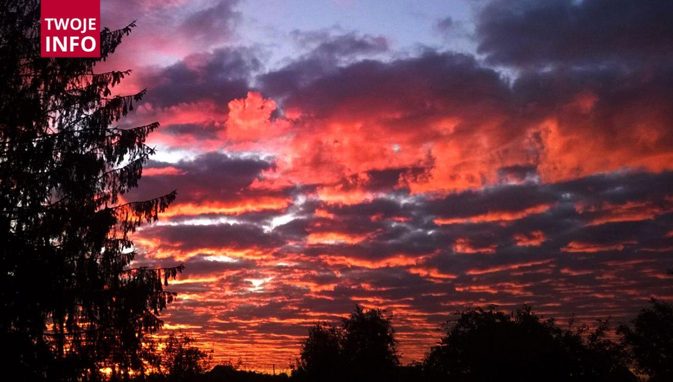 Zjawiskowy wschód słońca nad Siedlcami (fot. Twoje Info)