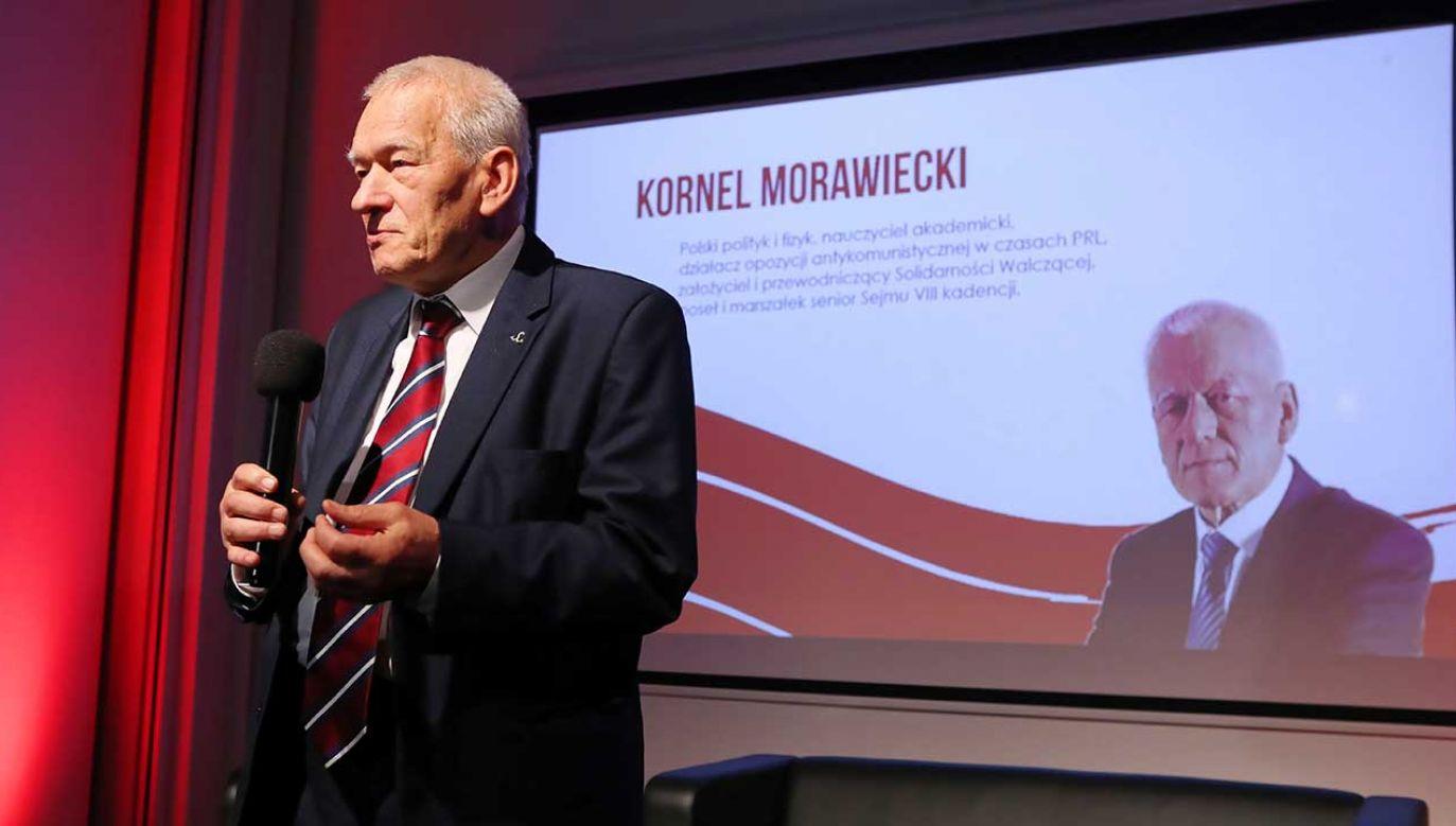 Marszałek senior Kornel Morawiecki (fot. arch. PAP/Roman Zawistowski)