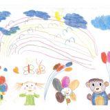 Karolinka Krzemień 4 latka stworzyła taki śliczny rysunek