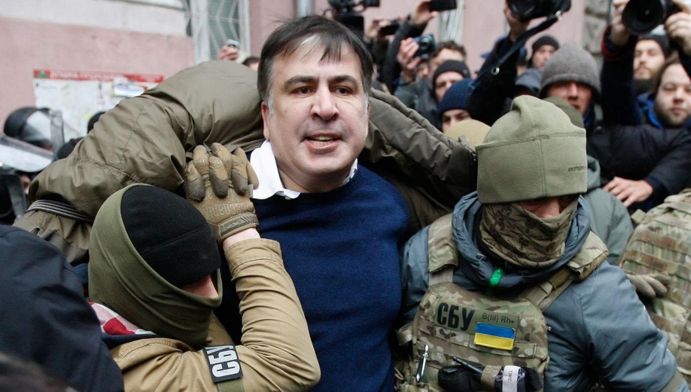 Micheil Saakaszwili jest byłym prezydentem Gruzji i liderem ukraińskiej partii Ruch Nowych Sił (fot. PAP/EPA/STEPAN FRANKO)