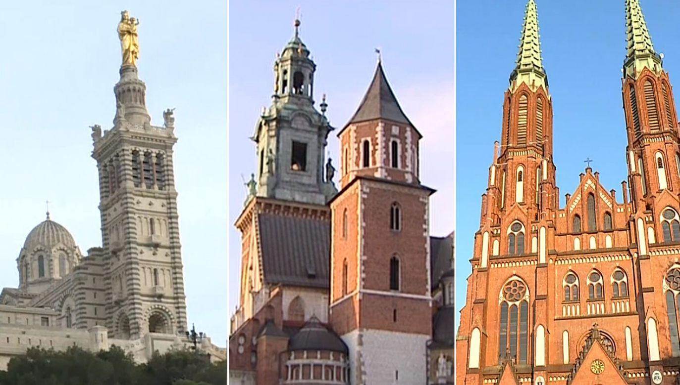 O godz. 18.50 rozbrzmiały dzwony wszystkich katedr we Francji i w Polsce, a także innych miejsc na świecie (fot. TVP info)