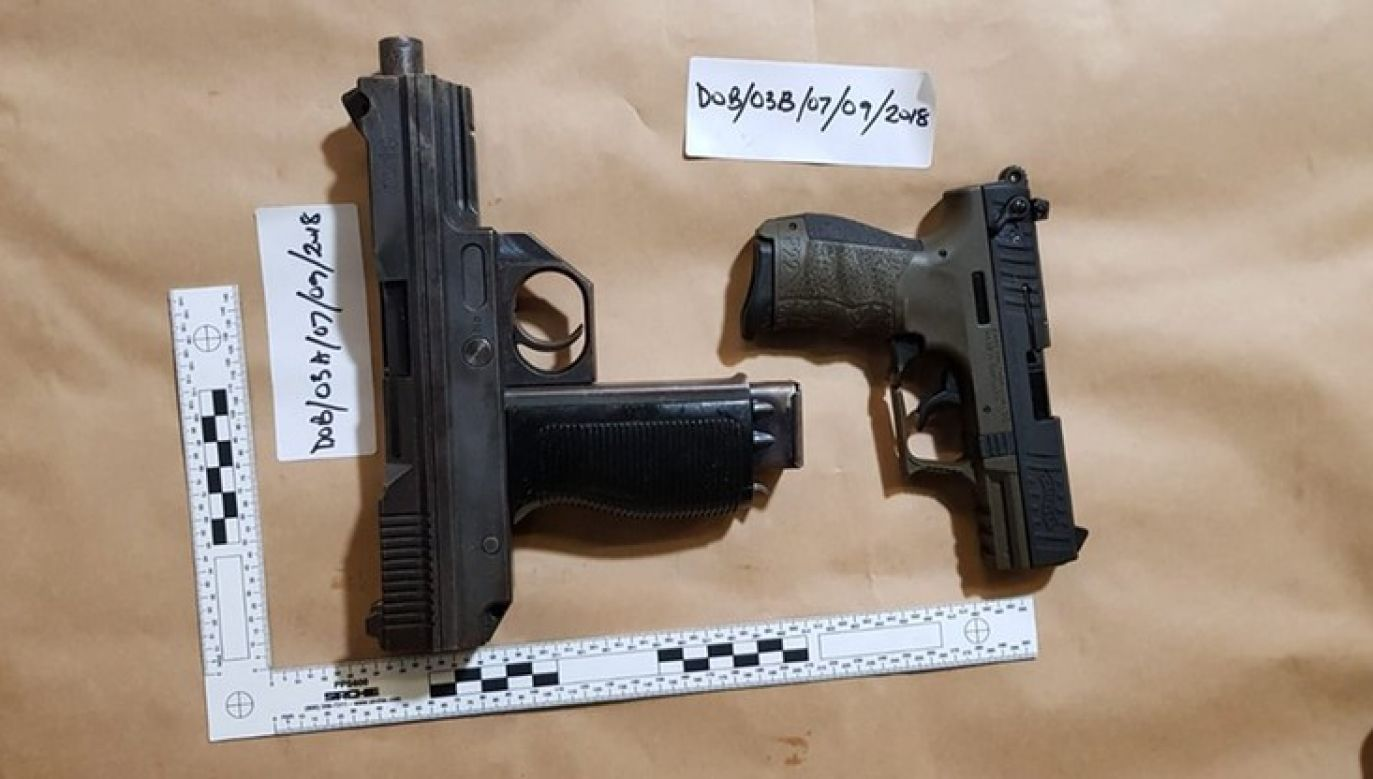 Twenty handguns and 1,000 rounds of ammunition were on the trucks driven by the Polish smugglers. Photo: twitter.com/@NCA _UK