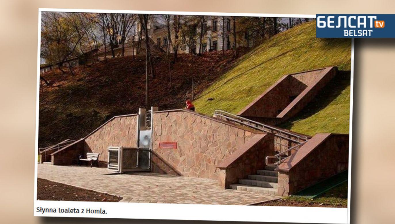 Pierwotnie szalet miał być oddany do użytku w czerwcu (fot. Belsat.eu)