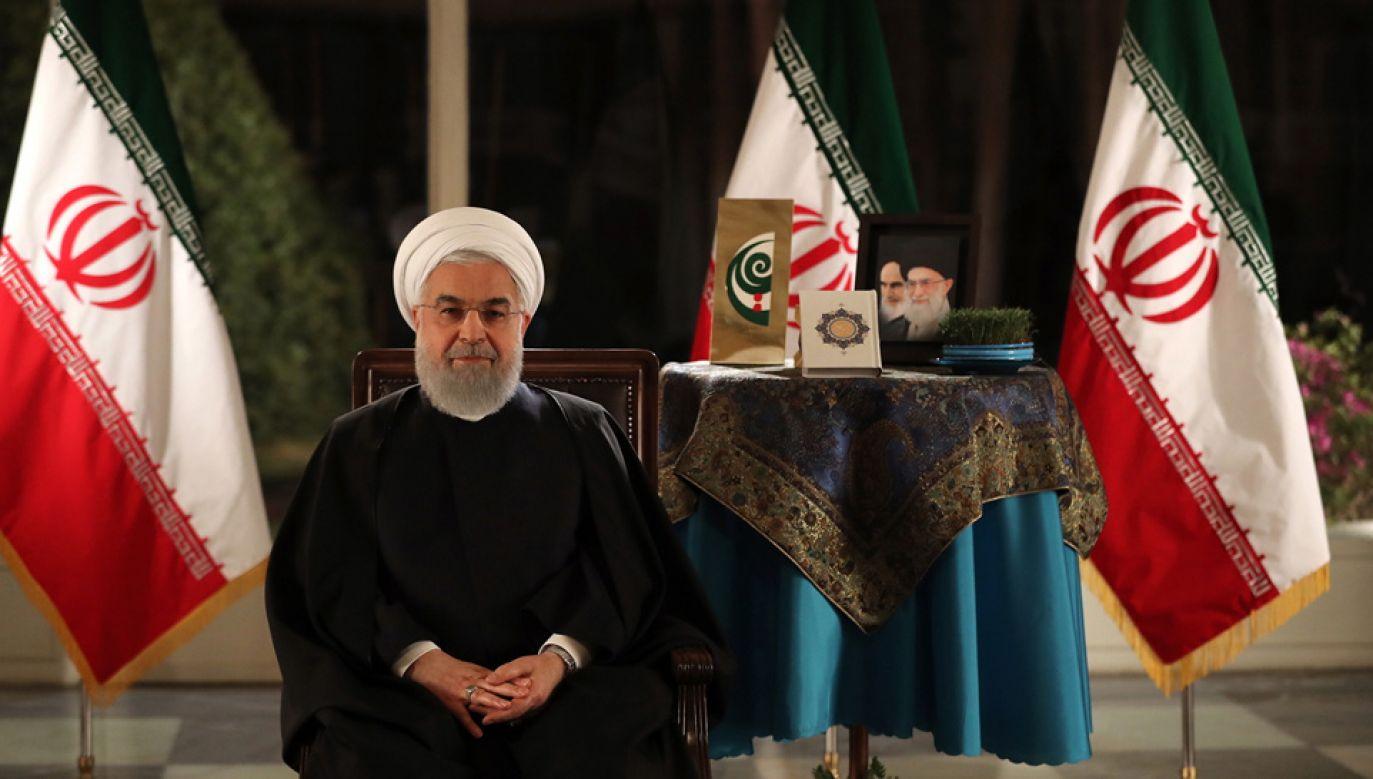 Hasan Rowhani jest jednocześnie prezydentem i szefem rządu (fot. PAP/EPA/Iranian Presidential Office / HANDOUT)