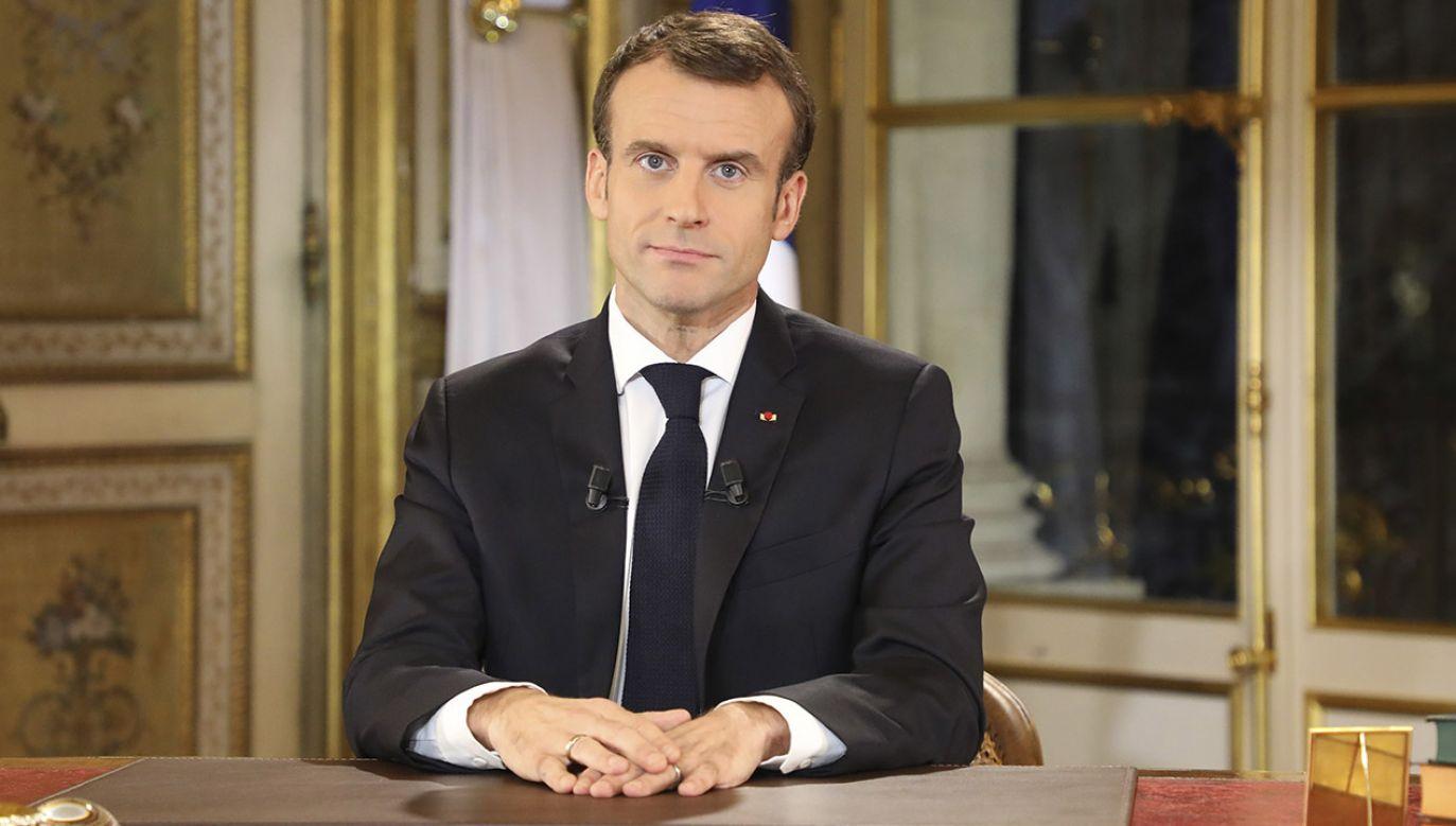 Zdaniem Philippe'a Martineza obietnice Emmanuela Macrona są niewystarczające (fot. PAP/ EPA/LUDOVIC MARIN / POOL MAXPPP)