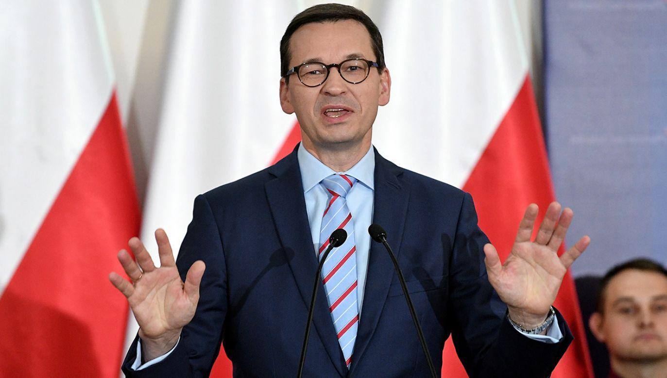 Premier Morawiecki spotkał się z mieszkańcami Radomia (fot.  PAP/Marcin Obara)