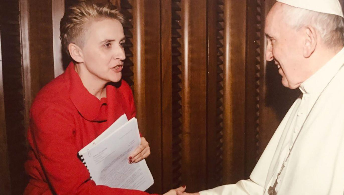 Posłanka Teraz! spotkała się w Watykanie z papieżem Franciszkiem (fot. tt/@JoankaSW)