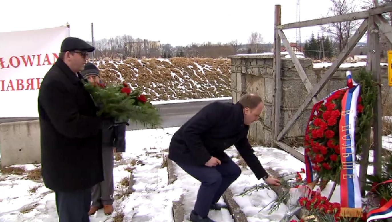 Ambasador Siergiej Andriejew zapowiedział, że w kolejnych latach również pojawi się w Pieniężnie.(tvp3 Olsztyn)