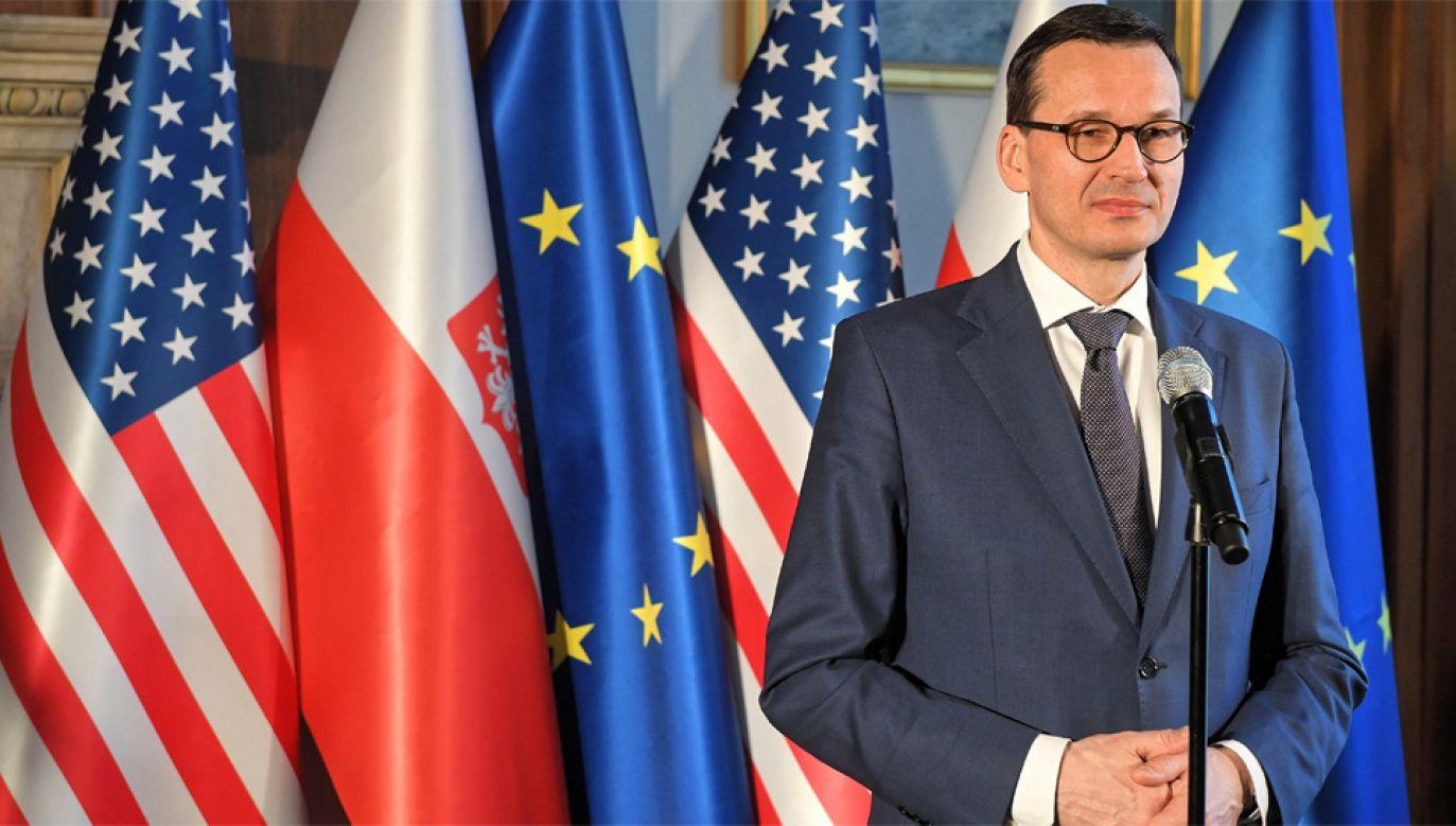 Premier Mateusz Morawiecki rozpoczął dwudniową wizytę w USA (fot. PAP/Radek Pietruszka)