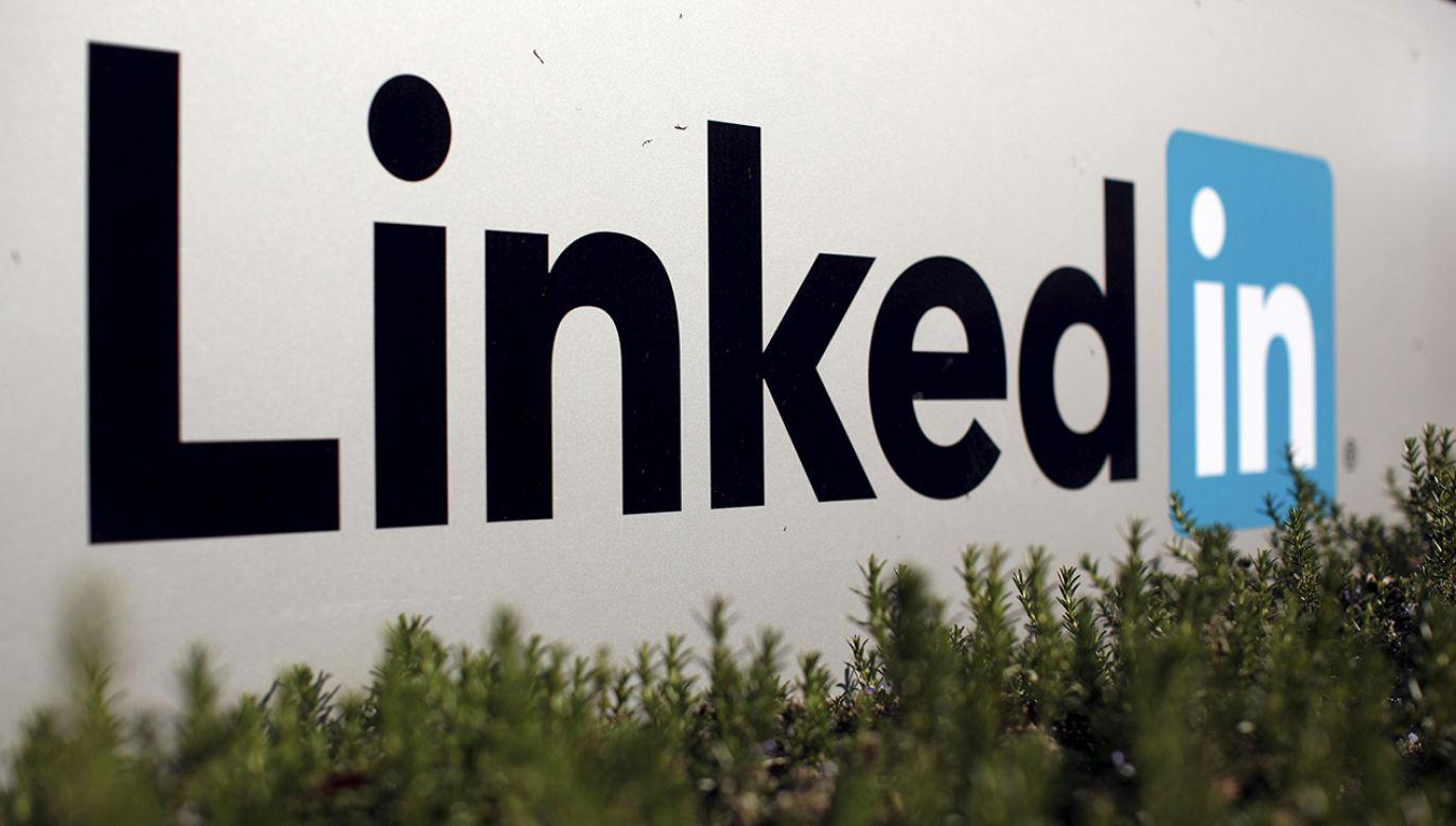 LinkedIn to międzynarodowy serwis społecznościowy, który specjalizuje się w kontaktach biznesowych oraz społecznych (fot. REUTERS/Robert Galbraith)