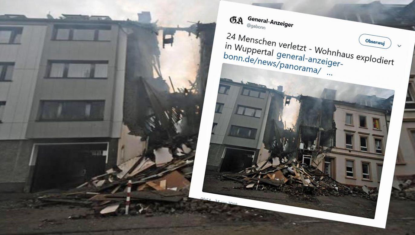 Wybuch wystraszył ludzi z okolicznych domów; mieszkańcy w panice wybiegli na ulicę (fot. tt/General-Anzeiger)