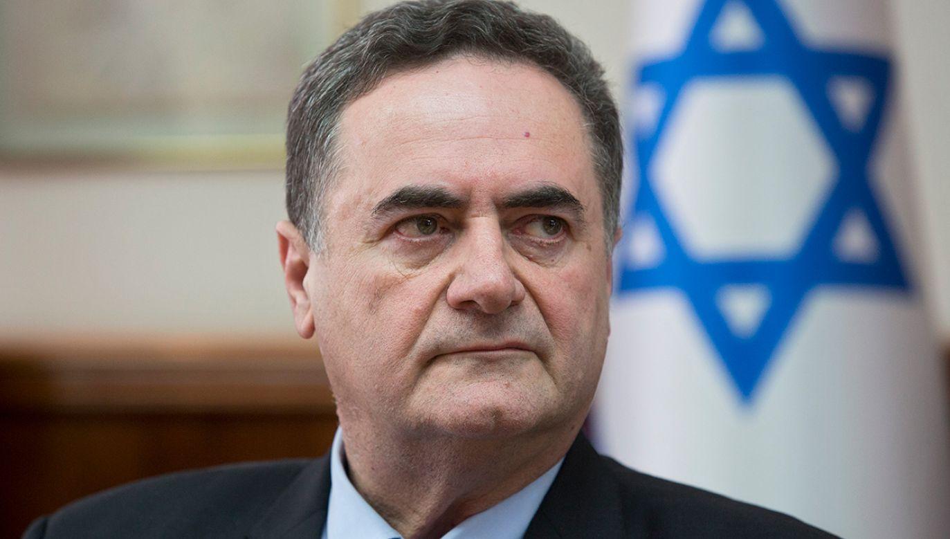 """Szef izraelskiego MSZ Katz nie żałuje swojej wypowiedzi. Powtórzył, że """"wielu Polaków"""" współpracowało z nazistami (fot. arch. SEBASTIAN SCHEINER / POOL)"""