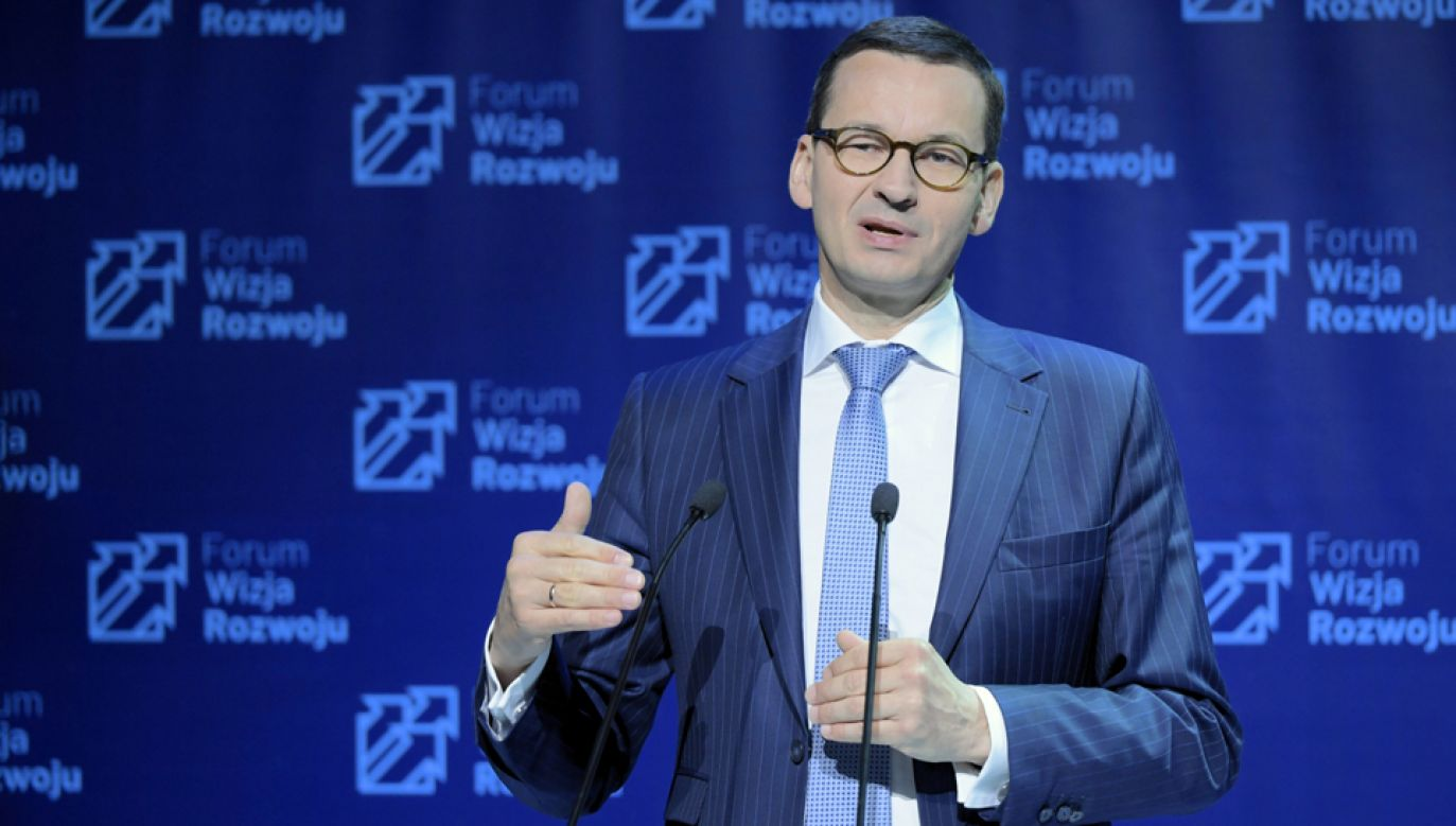 Premier Mateusz Morawiecki podczas organizowanego po raz pierwszy Forum Wizja Rozwoju (fot. PAP/Adam Warżawa)