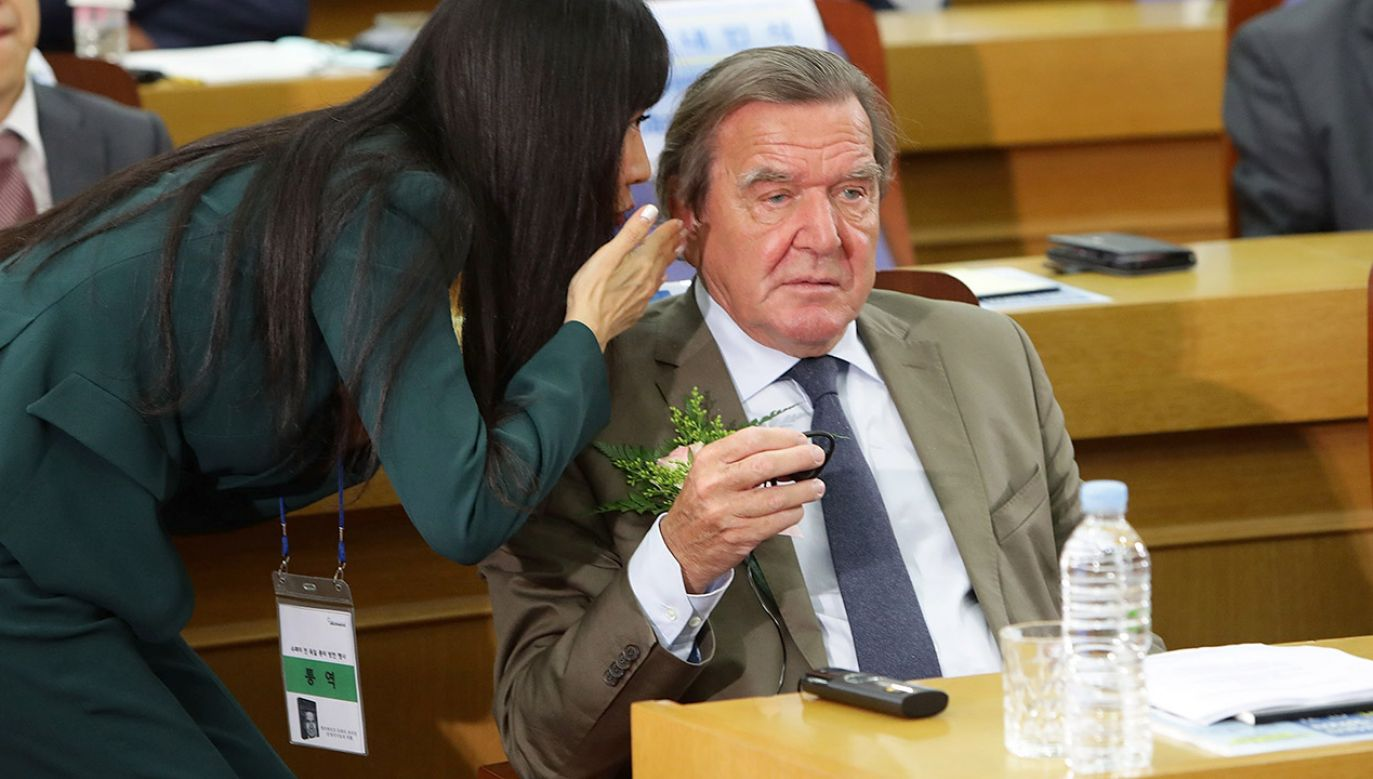 Były kanclerz RFN Gerhard Schröder (fot. Chung Sung-Jun/Getty Images for BILD)