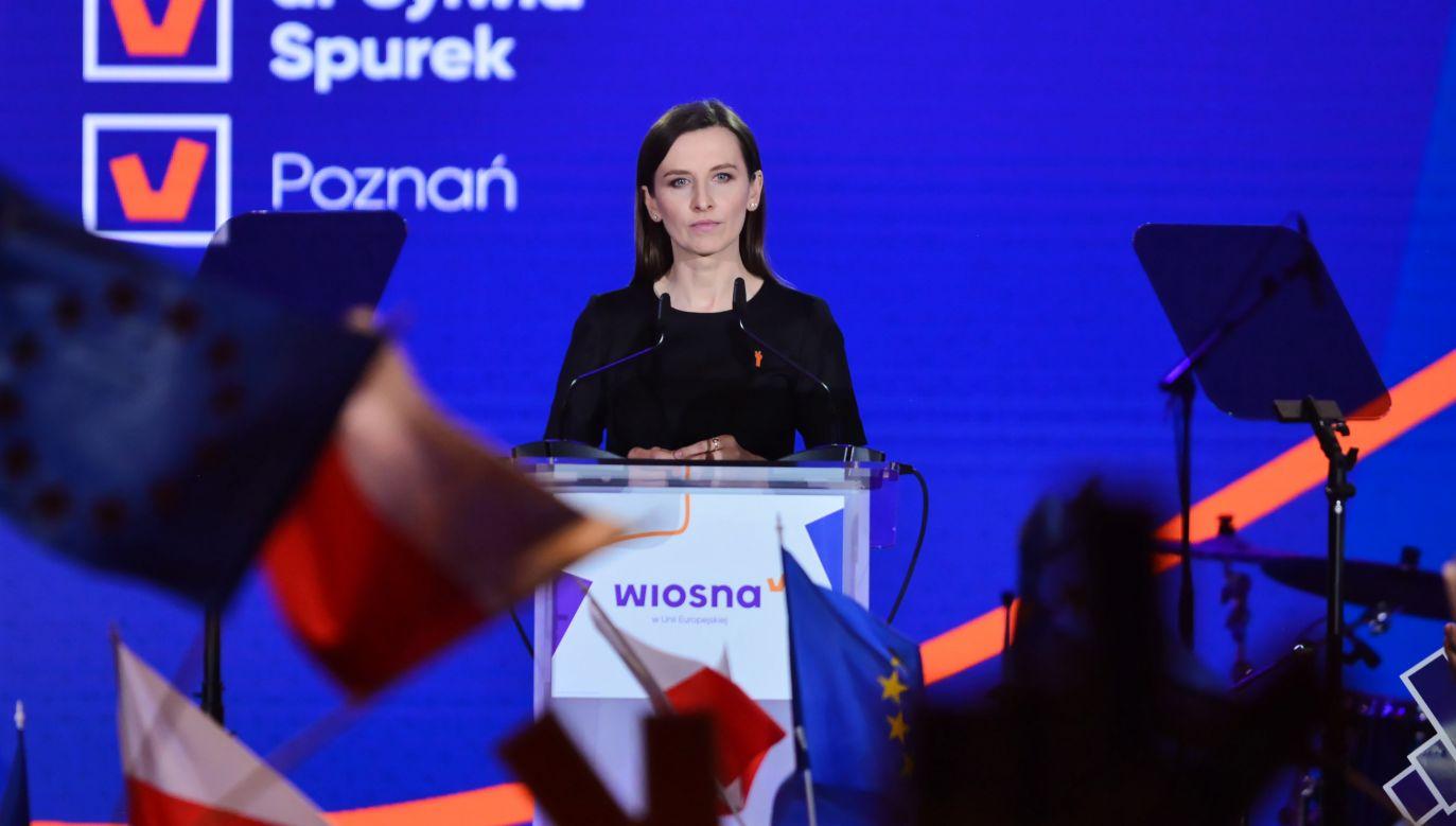 Była zastępczyni RPO Sylwia Spurek podczas konwencji Wiosny (fot. arch.PAP/Jakub Kamiński)