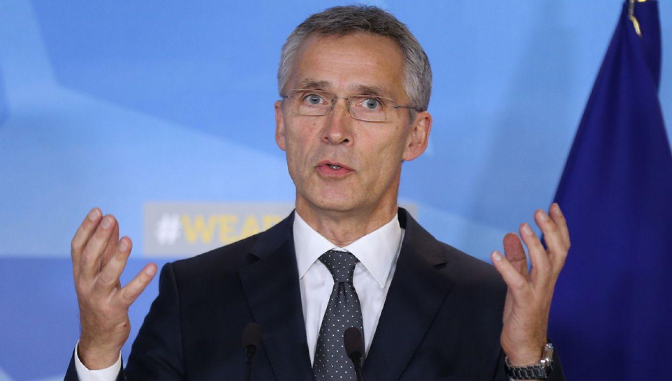 Sekretarz Generalny NATO Jens Stoltenberg (fot. Dursun Aydemir/Anadolu Agency/Getty Images)