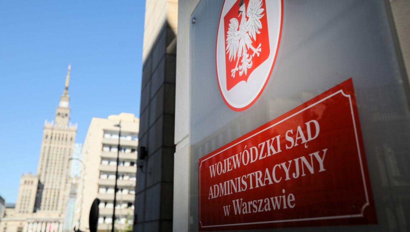 Wojewódzki Sąd Administracyjny w Warszawie (fot. PAP/Leszek Szymański)