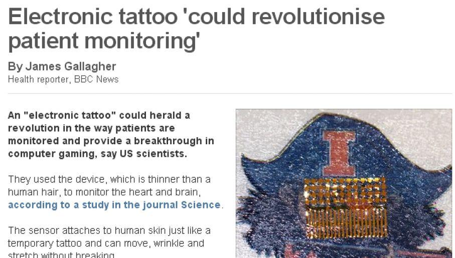 Elektroniczny Tatuaż Zbada Serce Tvpinfo