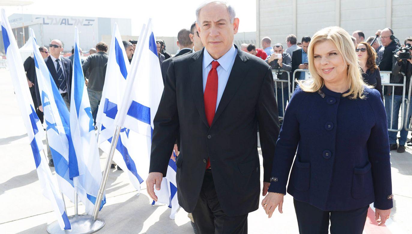 Sara Netanjahu była oskarżona o nadużycia finansowe o równowartości 100 tys. dolarów (fot. Amos Ben Gershom/GPO via Getty Images)