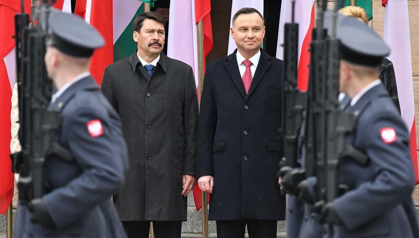 Prezydent Węgier składa dwudniową wizytę w Polsce (fot. PAP/Piotr Polak)