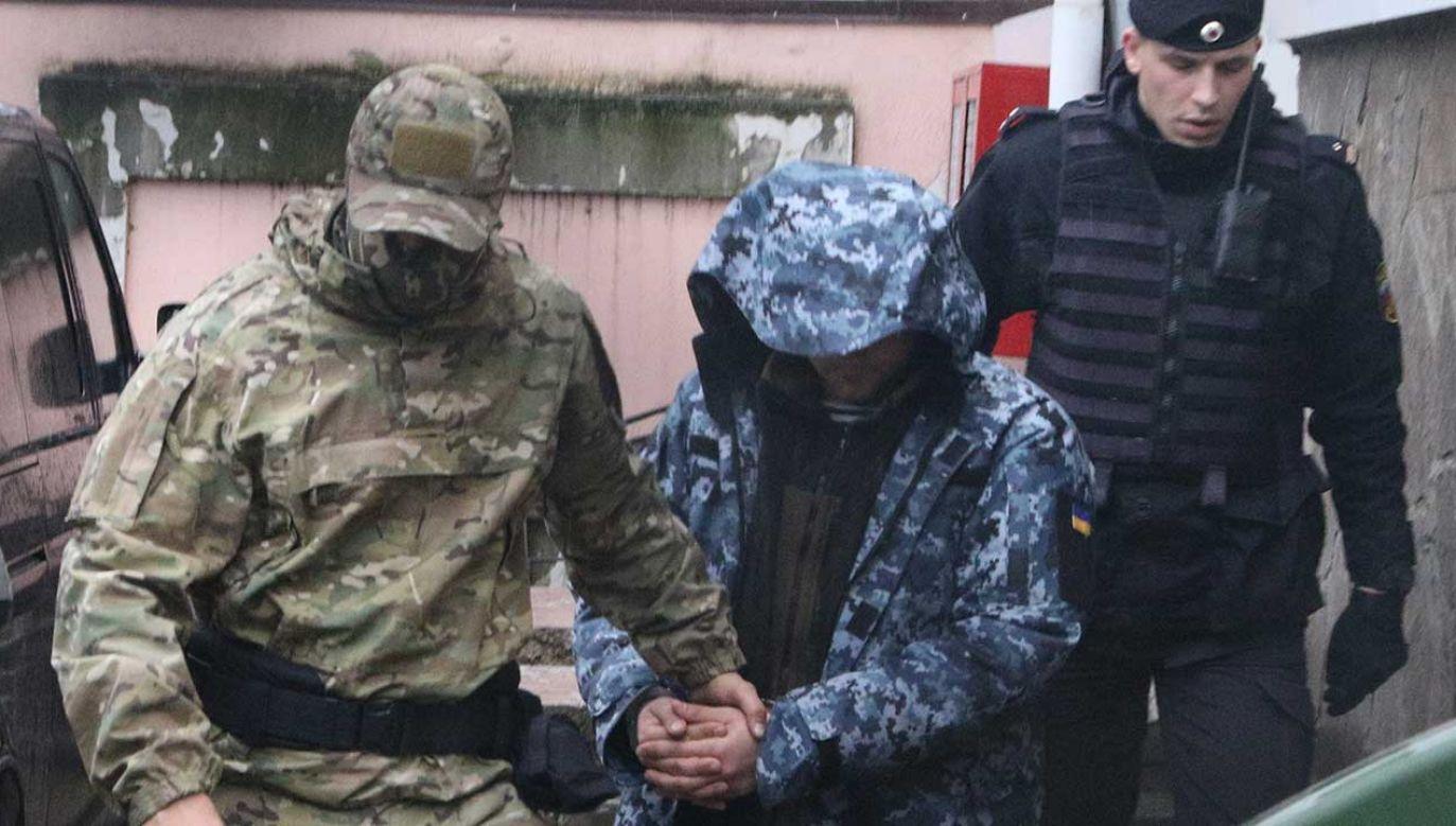 """Ukraiński MSZ zapewnił, że marynarze """"dzielnie się trzymają"""" (fot. Alexei Pavlishak\TASS via Getty Images)"""