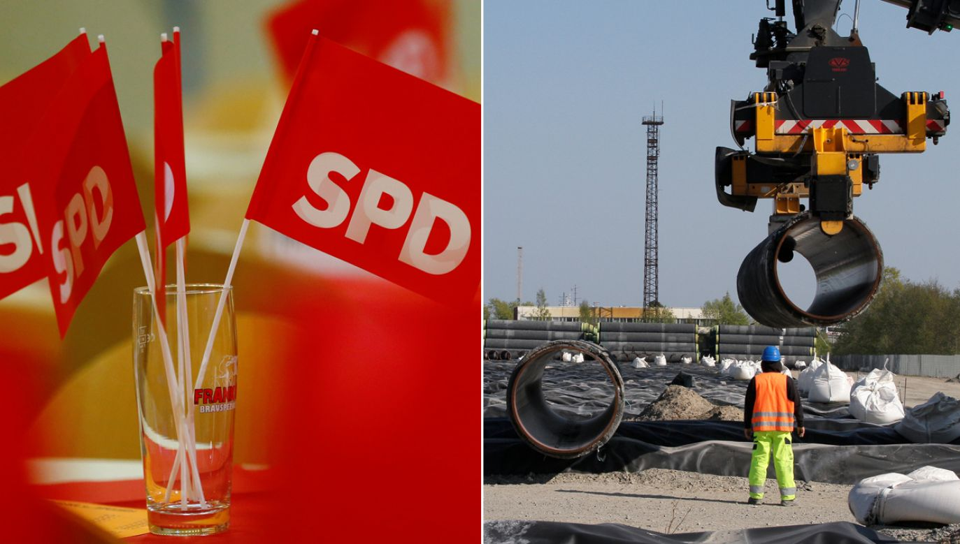 SPD popiera budowę gazociągu Nord Stream 2 (fot. REUTERS/Ralph Orlowski/Tobias Schwarz)