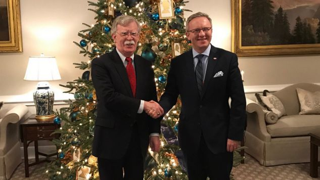 John Bolton i Krzysztof Szczerski rozmawiali m.in. o lokalizacji amerykańskich baz w Polsce (fot. TT/Embassy of Poland US)