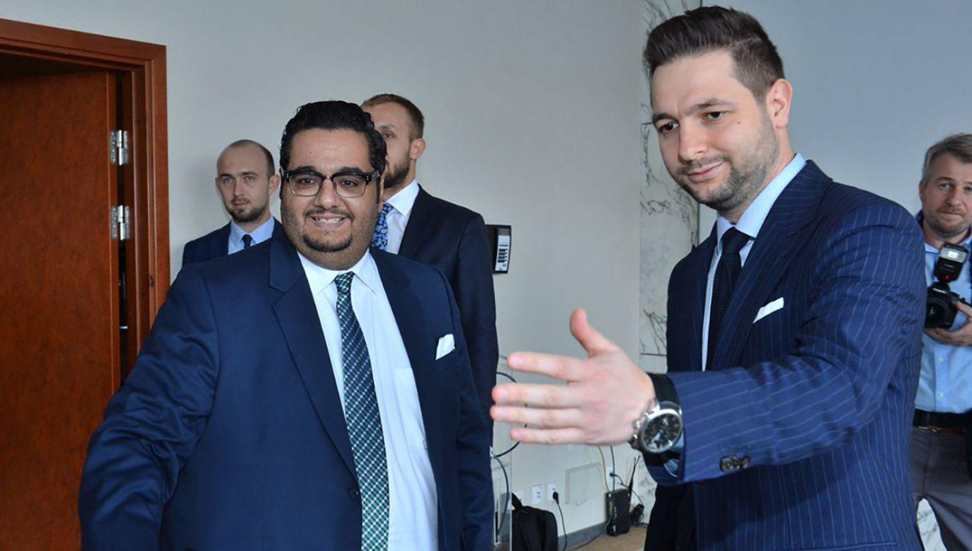 Patryk Jaki spotkał się z dyrektorem Dubai Internet City  (fot. TT/Patryk Jaki)