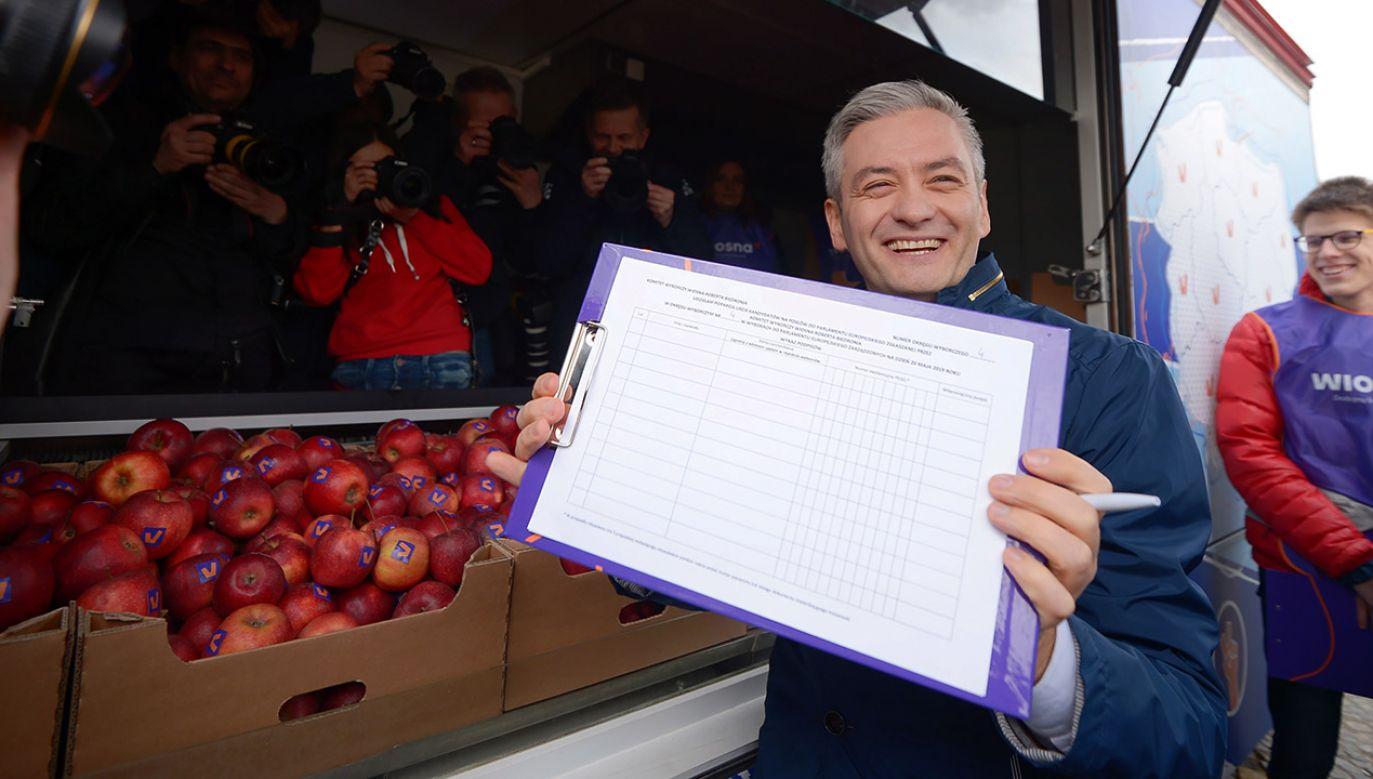 Robert Biedroń chwali wiceprezydenta Warszawy (fot. PAP/Marcin Obara)