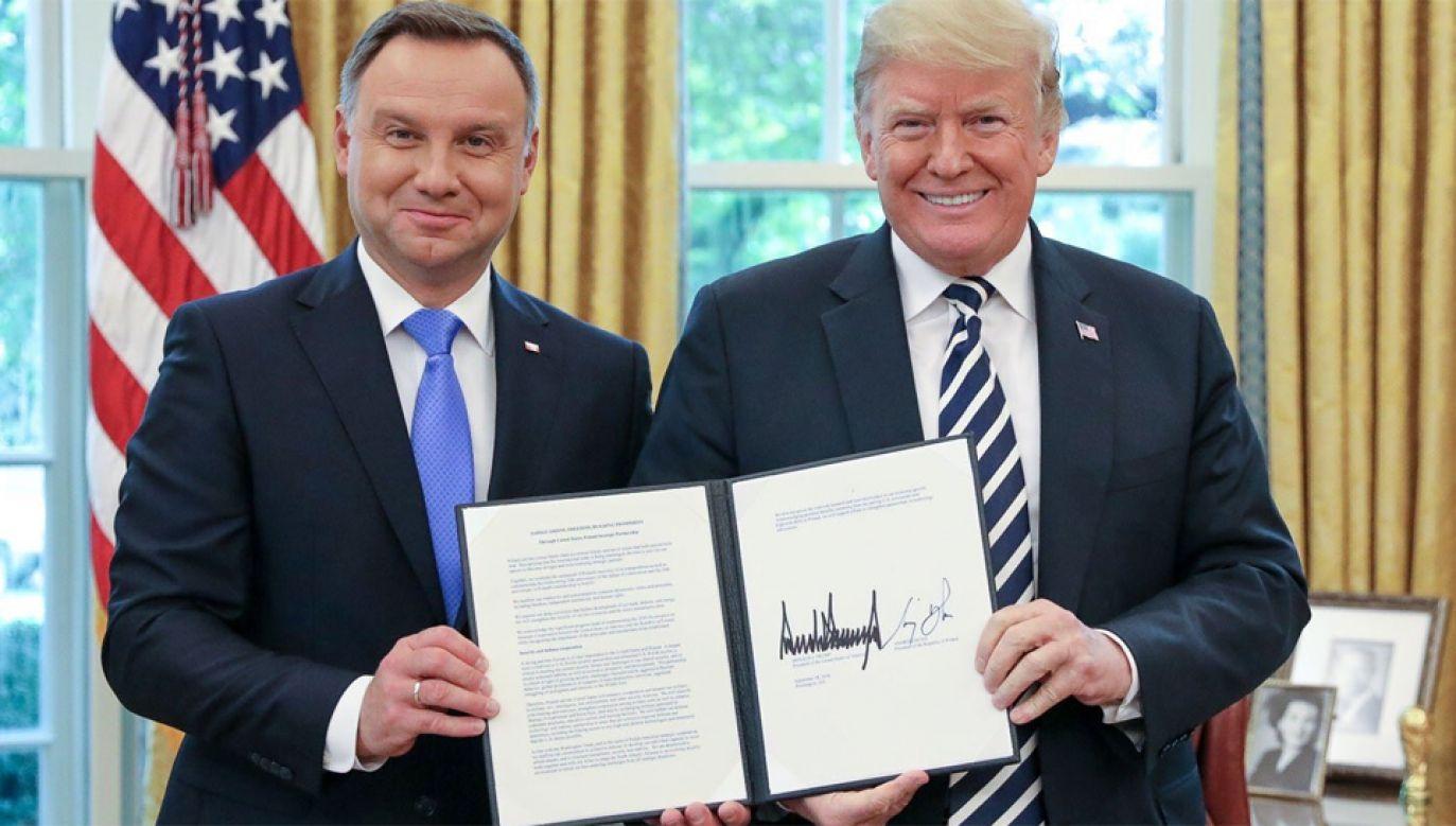 Szczerski: podpisana deklaracja - mapą drogową w relacjach Polska-USA (fot. KPRP/Jakub Szymczuk)