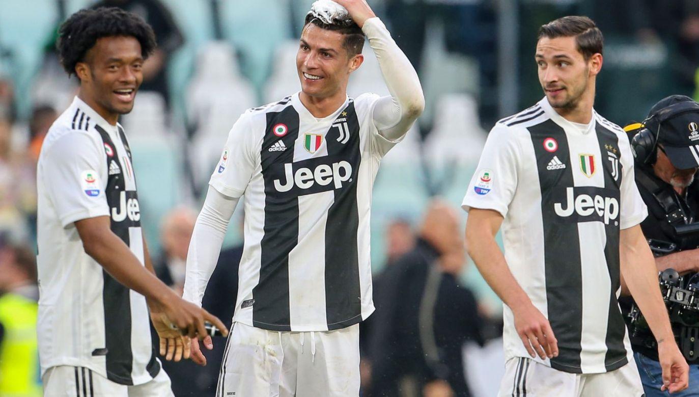 Juan Cuadrado, Cristiano Ronaldo i Mattia De Sciglio (fot. Getty Images)