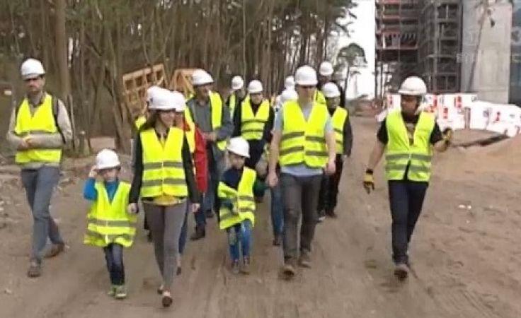 Stan budowy szpitala pokazali mieszkańcom miasta