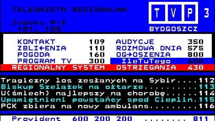 Awaria serwisu regionalnej telegazety