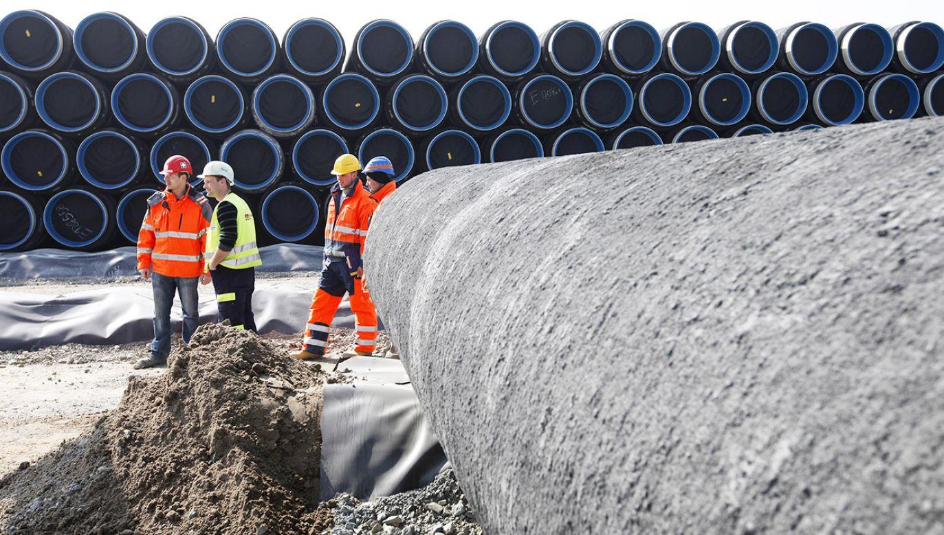 Gazociąg ma być gotowy do października 2022 r. (fot. REUTERS/Christian Charisius)