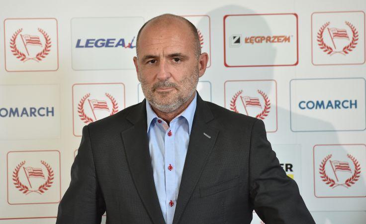 Nowy trener Cracovii Michał Probierz podczas konferencji prasowej, fot. PAP/Jacek Bednarczyk