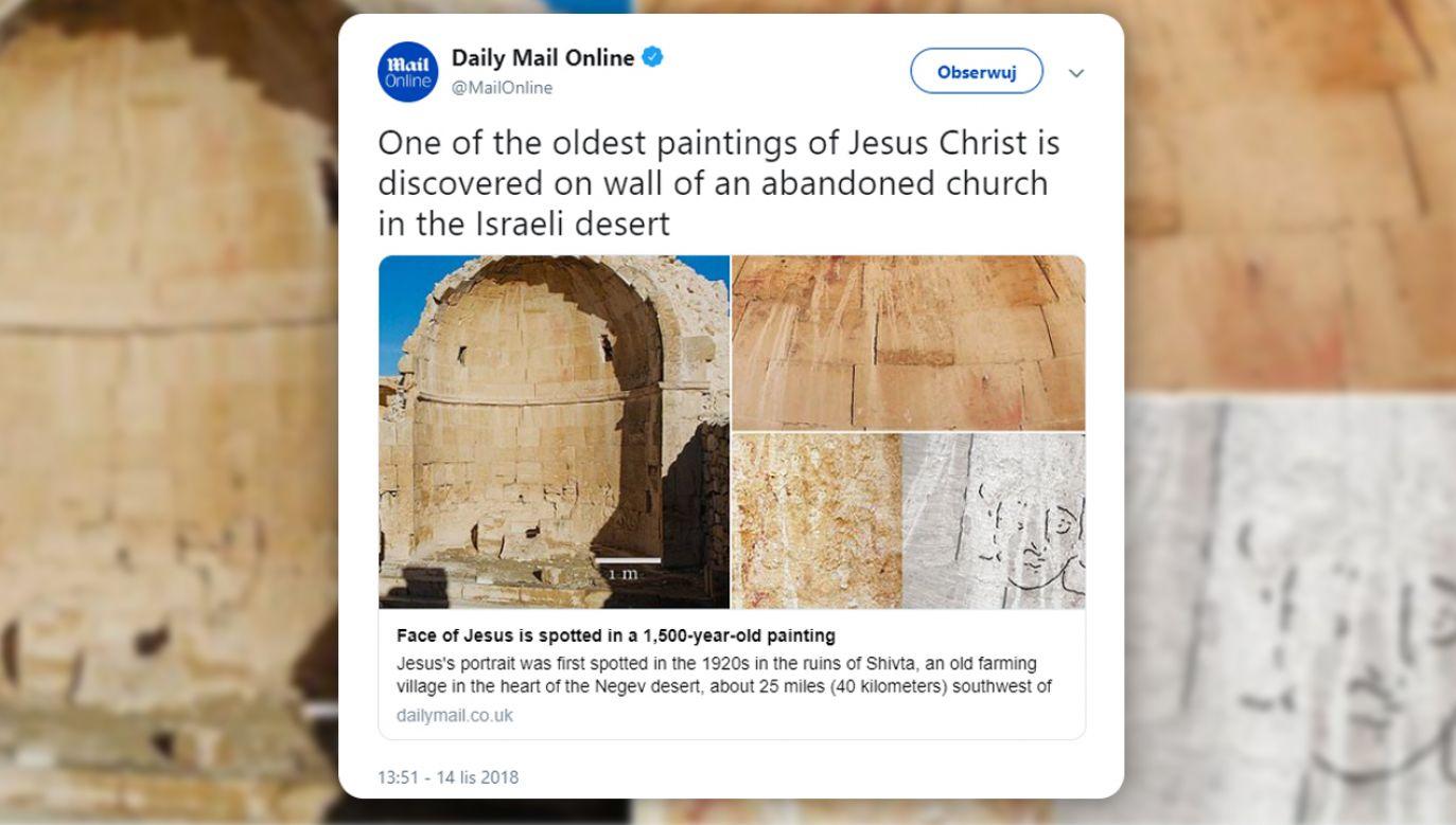 Historycy uważają, że portret pochodzi z VI wieku naszej ery (fot. TT/Daily Mail Online)